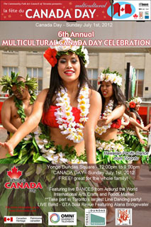 280. Multicultural Canada Day July 1 in Yonge-Dundas Square