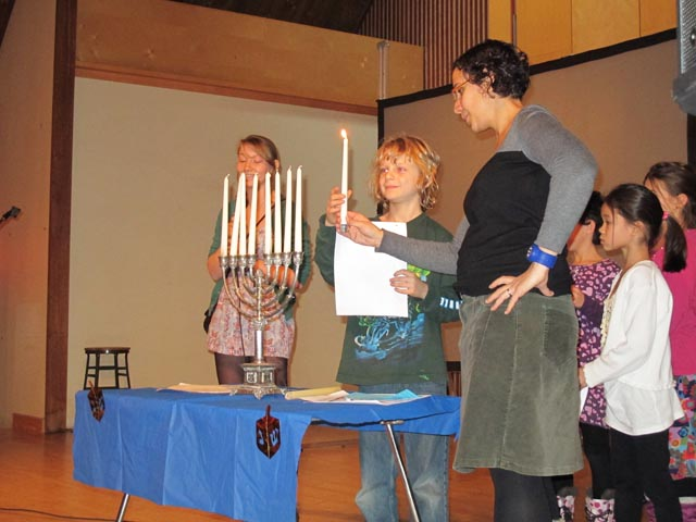 336. Images from Winchevsky's School's Hanukkah Celebration