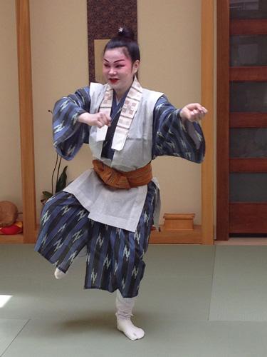 Okinawa dancer Tomomi Miyagi. Copyright ©2013 P. Anne Winter