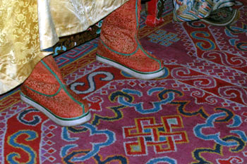 Royal Mongolian Boots in the National Museum in Ulaan Baator. Copyright ©2013 Ruth Lor Malloy