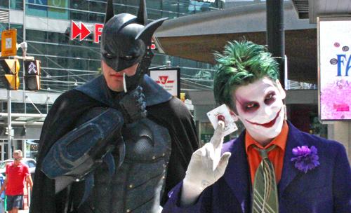 Batman & the Joker.  Copyright ©2013 Ruth Lor Malloy