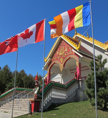 Wat Lao Veluwanaram Temple,  Caledon. Image copyright ©2013 Ruth Lor Malloy