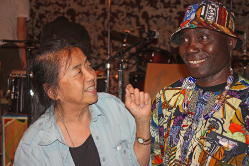 © Copyright 2013, Ruth Lor Malloy. Ruth Malloy at Afrofest, with musician Njacko Backo, who teaches African music in Toronto's schools.