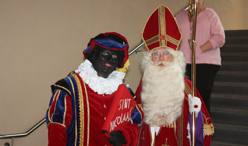 Black Pete and Sinterklaas in 2012 at the Bata Shoe Museum. Copyright ©2013 Ruth Lor Malloy.
