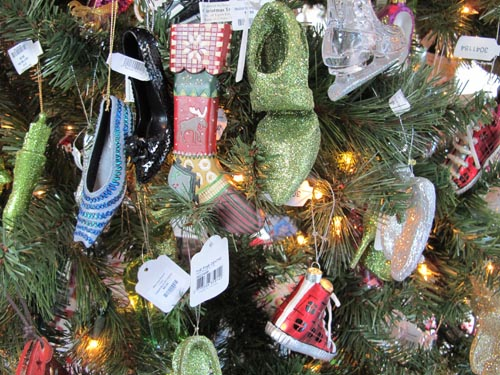 Miniature Shoes on a Tree at the Bata Shoe Museum.