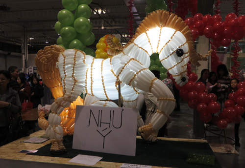 Year of the Horse in Balloons. Copyright ©2014 Ruth Lor Malloy.