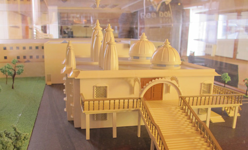 Model of New Jain Community Centre and Temple.