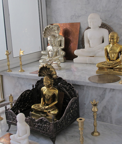 Statues of Jain Monks of the Digambara Sect.