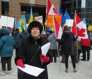 Toronto Ukrainian Demonstration. Copyright ©2014 Ruth Lor Malloy.