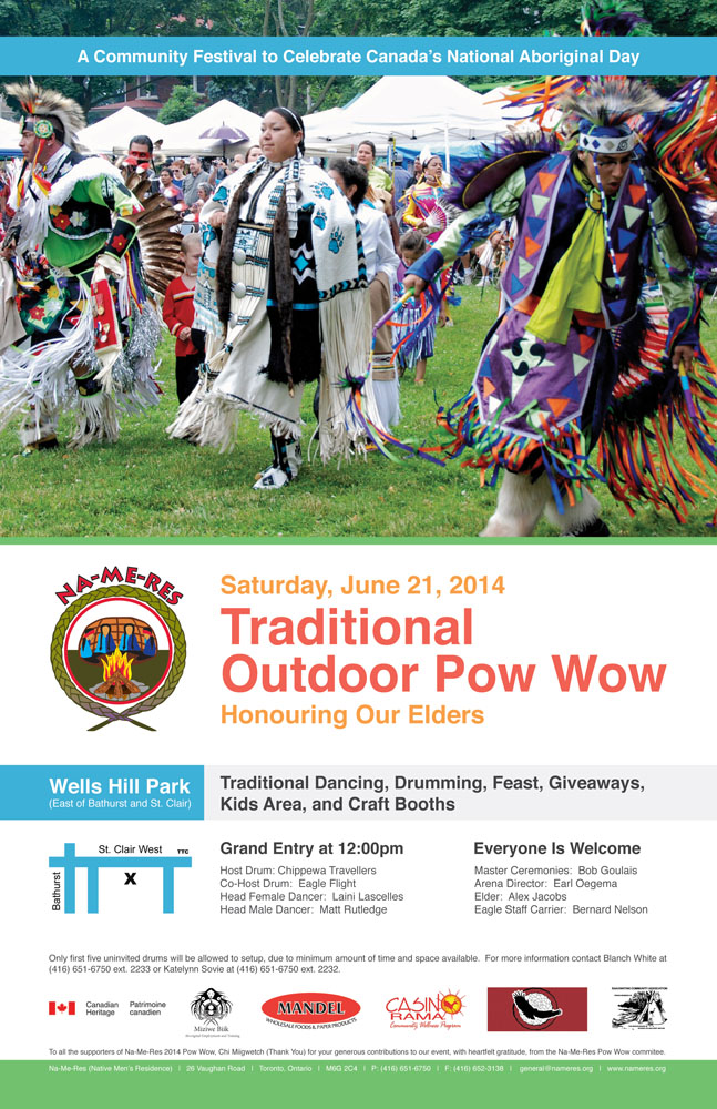 2014 Na-Me-Res (Native Men's Residence) Pow Wow Poster