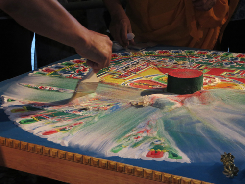 Dismantling Mandala. Copyright ©2014 Ruth Lor Malloy