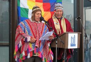 Jesus Leon (Quechua Peru) & Marco Guzman (Aymara First Nation). Copyright ©2014 Ruth Lor Malloy