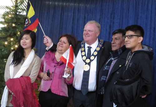 Rob Ford at New Year Levee. Copyright ©2014 Ruth Lor Malloy