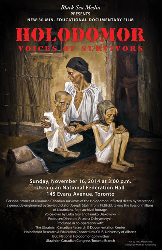 HOLODOMOR Voice of Survivors - 16 Nov