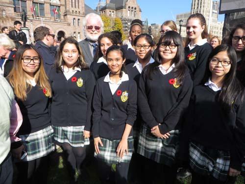 Choir from St. Joseph's College School.  Copyright ©2014 Ruth Lor Malloy