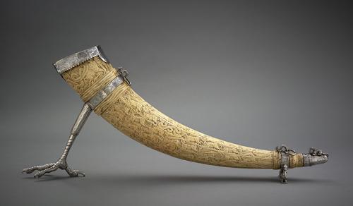 Ivory horn. Image courtesy Aga Khan Museum