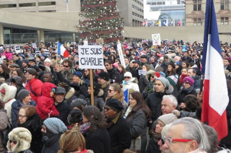 Je Suis Charlie in Toronto.  Copyright ©2015 Ruth Lor Malloy -  Copyright ©2015 Ruth Lor Malloy