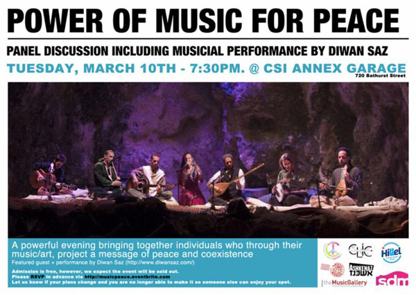 447. Diwan Saz Power of Music for Peace March 10 – 2015