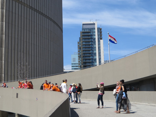Flag of the Netherlands Flying at Toronto City Hall. Copyright ©2015 Ruth Lor Malloy