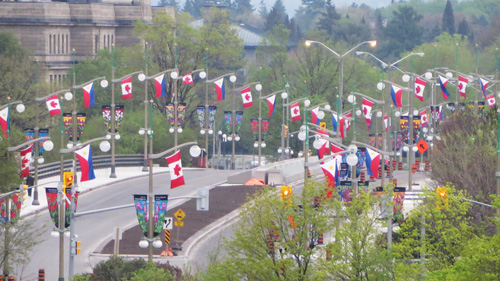 Flags of Philippines and Canada.  Copyright ©2015 Ruth Lor Malloy