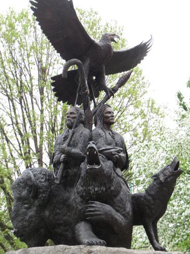 National Aboriginal Veterans Monument in Confederation Park. Copyright ©2015 Ruth Lor Malloy