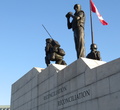 "Monument ""Reconciliation"". In the Service of Peace.  Copyright ©2015 Ruth Lor Malloy"