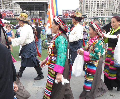Tibetans in parade.  Copyright ©2015 Ruth Lor Malloy