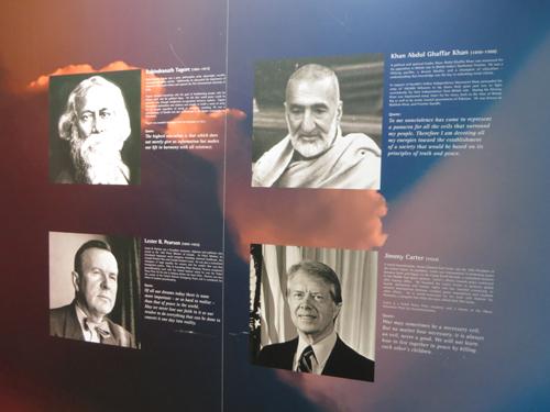 Rabindranath Tagore, Abdul Ghaffar Khan, Lester B. Pearson, Jimmy Carter.