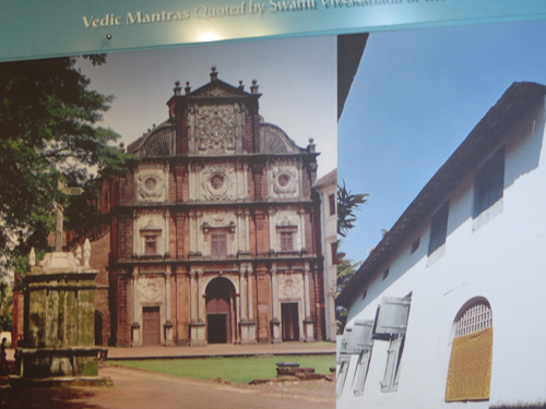 Church in Goa. Jewish  synagogue in  Cochin, India. Symbols of different faiths leading to the same end.