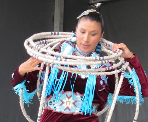 Lisa Odjig Hoop Dancing.  Copyright ©2015 Ruth Lor Malloy