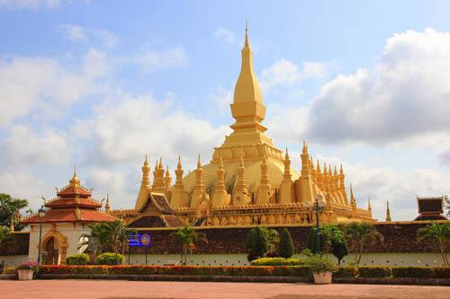 Phra Thatluang in Vientiane, Laos.
