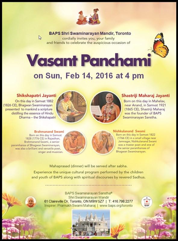 2016 baps Vasant Panchami2016