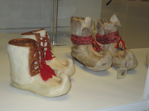 Sami boots at Bata Shoe Museum. Image Copyright ©2016 Ruth Lor Malloy