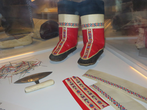Greenland sealskin decorations at Bata Shoe Museum. Image Copyright ©2016 Ruth Lor Malloy