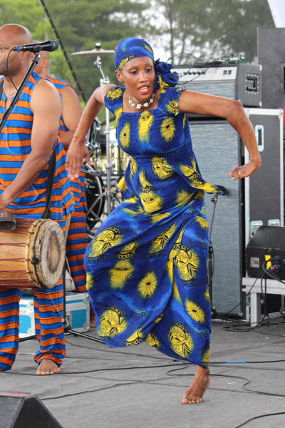 Amadou Kienou dancer (Burkina Faso) at Afrofest in 2013. Copyright ©2013 Ruth Lor Malloy