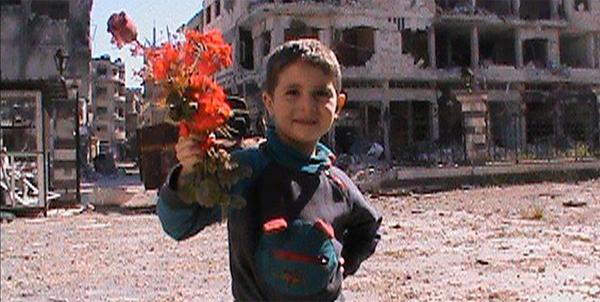 Still from Silvered Water; Syria Self-Portrait. Syrian Film Festival.