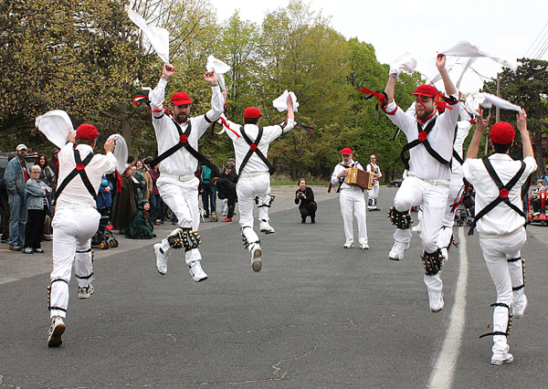 Morris Dancers. High Park. Toronto. Copyright © 2013 Ruth Lor Malloy.