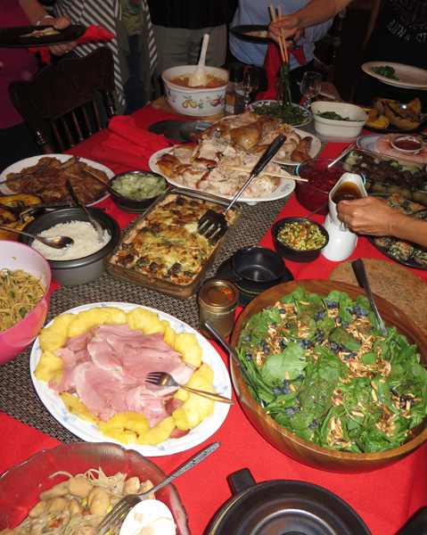 Chinese-Canadian Potluck Thanksgiving Dinner. Image Copyright ©2016 Ruth Lor Malloy