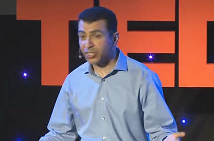 Screen shot of Dr. Shafique Virani on TED Talks.