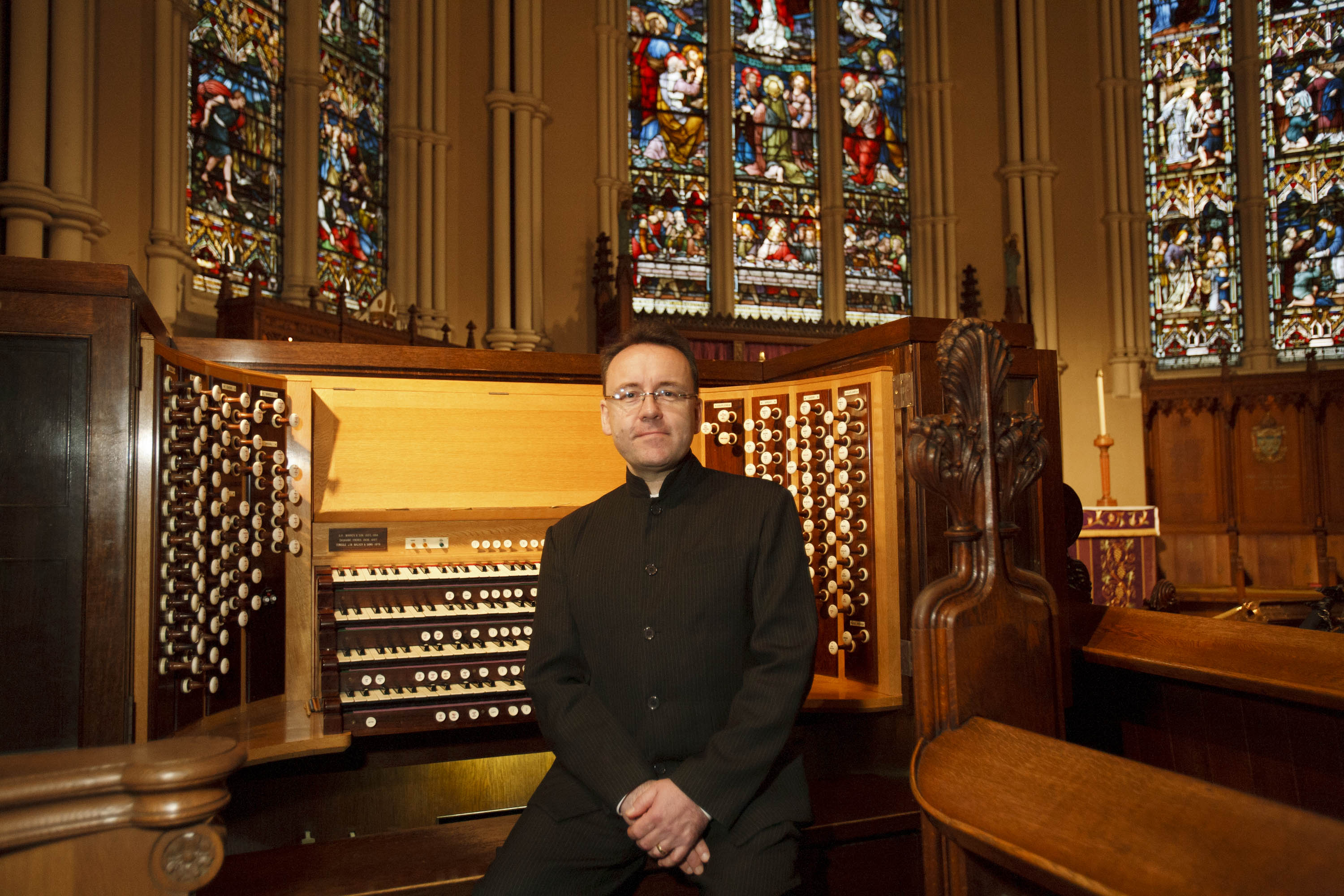 Organist & composer David Briggs. Image courtesy St. James Cathedral.