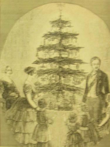 Queen Victoria's Prince Albert helped to popularize a tree as a Christmas centrepiece. Image property of Colborne Lodge, High Park.