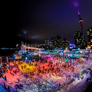 Image of Natrel Skating Rink courtesy of Harbourfront Centre.