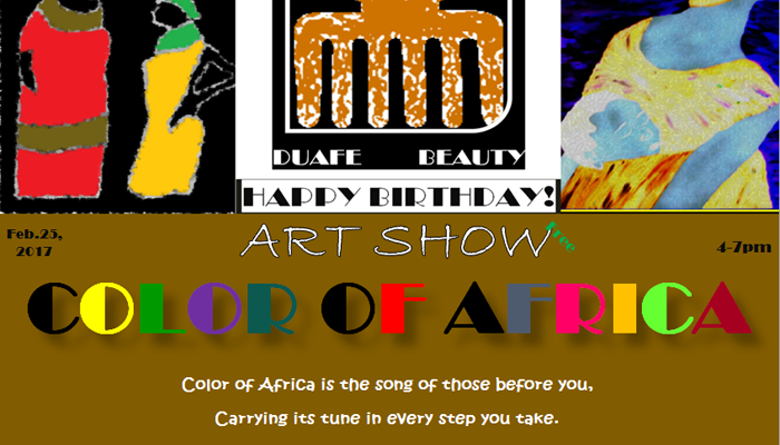 729. Color of Africa Art Show 4-7pm February 23 – 2017