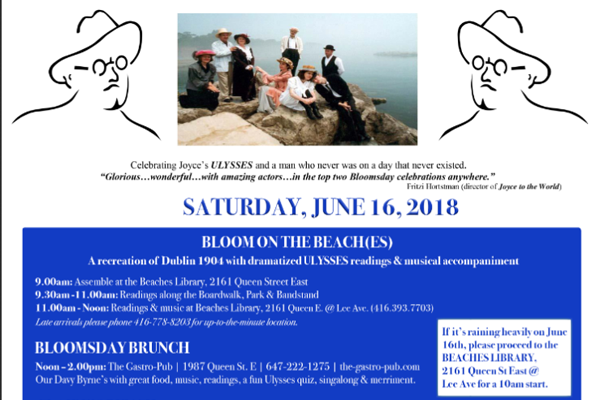 826.  June 16 – Bloomsday in Toronto and Dublin – a Story – 2018