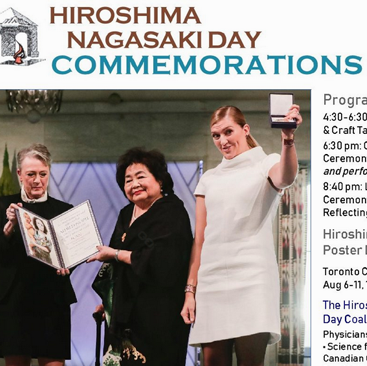 835. Hiroshima Nagasaki Day August 6 in Multicultural Toronto  – 2018